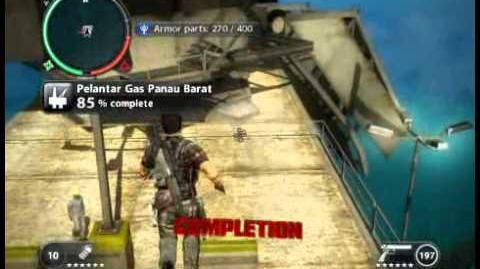 Just Cause 2 - Pelantar Gas Panau Barat - offshore rig
