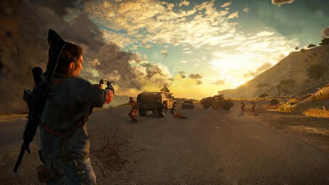 File:Just Cause 3 leaked screenshot (road shooting 2).png