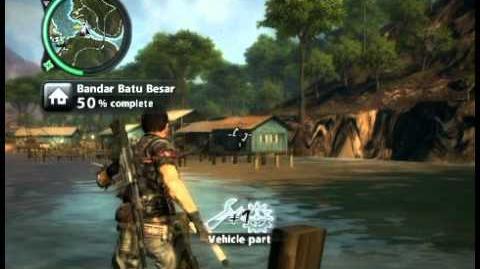 Just Cause 2 - Bandar Batu Besar - civilian village