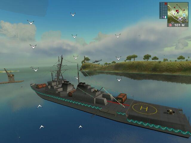 File:Mendoza's destroyer seen from air (left rear corner).jpg