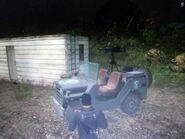 Wallys GP with mounted gun facing forward