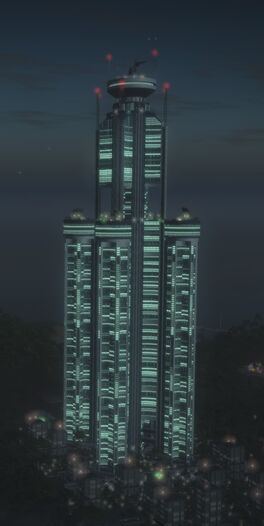 PBC tower at night after Pirate Broadcast
