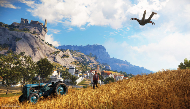 File:JC3 tractor and castle.PNG