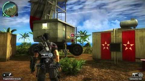 Just Cause 2 hijack a revolving mobile radar