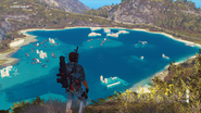 Litore Torto lake with ruins