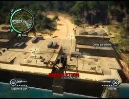 Just Cause 2 - Kem Sungai Floodgates - military base 11