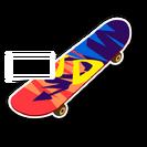 Skateboard skin