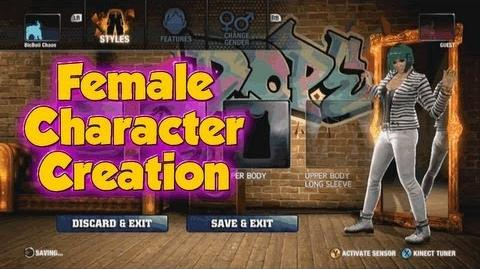 The Hip Hop Dance Experience - Female Character Creation Wardrobe Mode