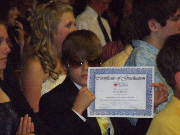 Justin Bieber graduation