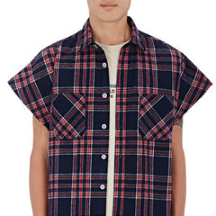 Brushed Flannel Sleeveless Shirt ($700)
