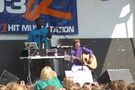 Justin Bieber playing guitar at Family Frenzy