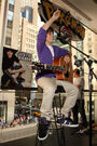 Justin Bieber in the Nintendo World Store 2009