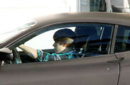 Justin drives a Ferrari F430 in 2010, Miami