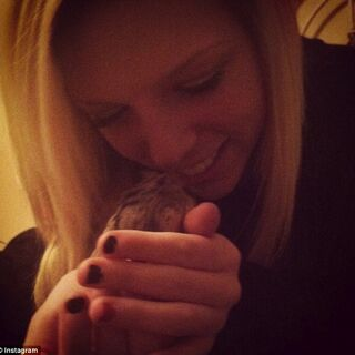 Bieber fan: Justin gave the hamster to Tori McClure as a gift