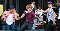 Justin Bieber performing at Easter Egg Roll, April 2010
