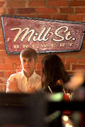 Justin Bieber and Selena at Mill St. Brewery - June 3, 2011