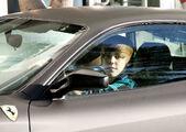 Justin Bieber drives a Ferrari F430 Miami, 2010