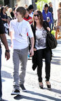 Justin and his mom shopping