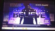 Justin Bieber's Believe ad in Spotify