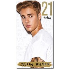 Justin Bieber Age 21 Birthday Card<br /><br />The message on this birthday card says