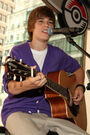 Justin Bieber performing at the '09 Nintendo World Store