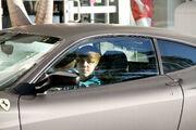 Justin Bieber drives a Ferrari F430 in Miami, 2010