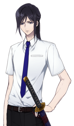 File:Gakuen K Kuroh Yatogami, Summer school uniform ver..png