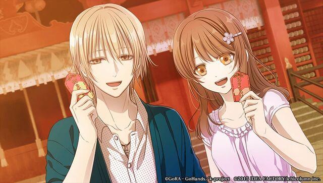 File:Totsuka and saya at shrine.jpg