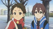 Satoshi with his friend
