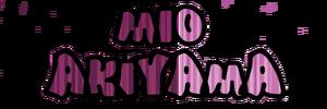 Mio Akiyama name icon