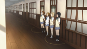Yui, Ritsu, Mugi and Mio punished