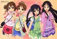 Yui, Ui, Azusa and Mio