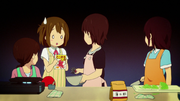 Yui forgot the octopus