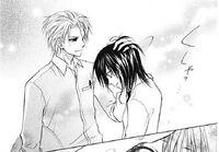 Takumi pats Misaki on the head