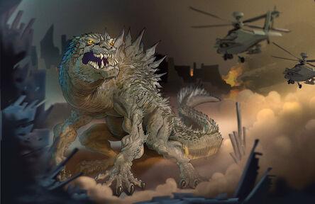 Godzilla for sketchoholic by heckthor