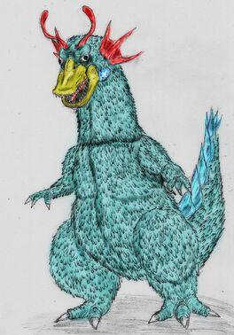 Art request kaiju basan the space goose by quinn red-d6jih2w