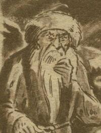 Viejo Tibetano Cara