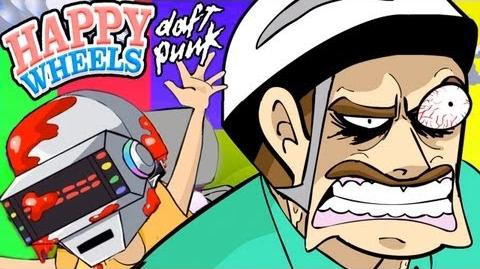 """GET BLOODY"" - Daft Punk Happy Wheels Parody (Animated ""Get Lucky"" Spoof)"