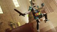 Brave wields the Gashacon Sword (original form)