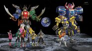 Fourze and Gokaiger on the moon