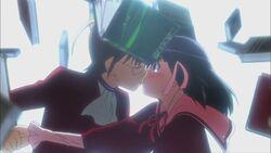 Shiori and Keima's Kiss