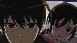 Keima looks at Yuta