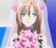 Kaede in wedding Dress during the beauty contest