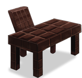 Chocolate-bar-shaped desk