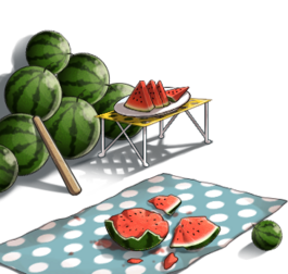 Watermelon splitting set