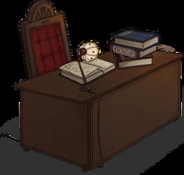Mahogany desk