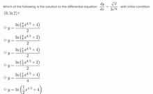 Separable differential equations(1)