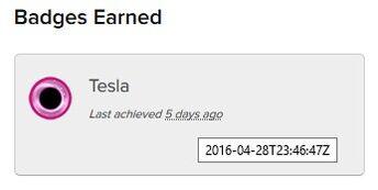 5 3 badges earned Tesla