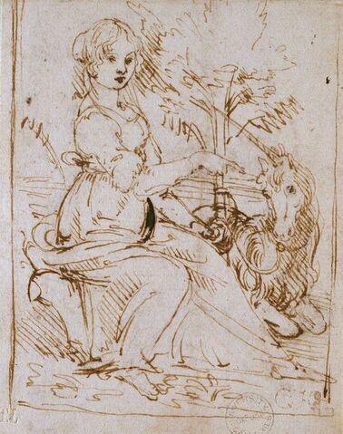 File:Leonardo da Vinci - Ashmole Museum - Maiden with a Unicorn.jpg