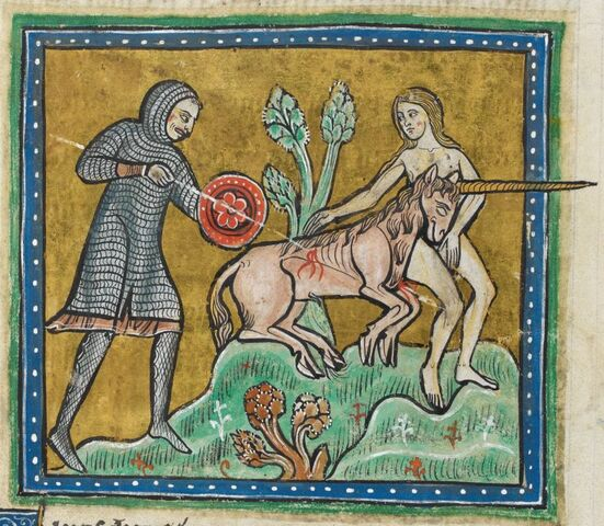 File:Rochester bestiary Unicorn.JPG